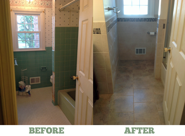Before After Pittsford Bathroom Renovation
