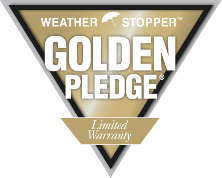 Golden Pledge Warranty logo.