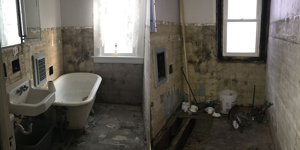 City of rochester bathroom gut remodel rochester ny 14602 - Bathroom renovation rochester ny ...