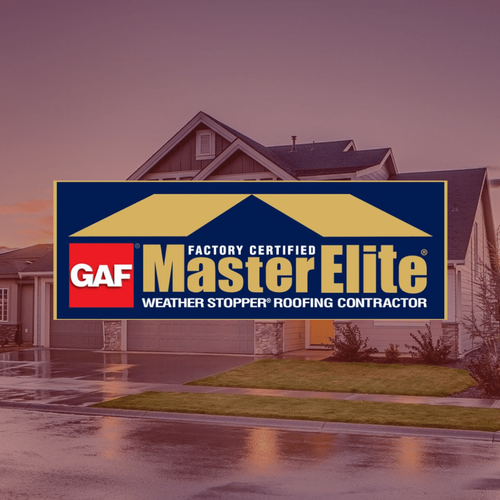 GAF Master Elite® Roofing Contractor logo/badge.